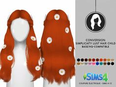 SIMPLICIATY LUST HAIR CHILD VERSION > CHARACTERISTICS: - ADULT TO CHILD - ORIGINAL TEXTURE - Flowers (Optional) found in the Hat Catego...