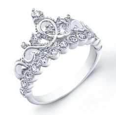 $34.99 925 Sterling Silver Crown Ring Sweet 16 & reminds her that she should always seek those which treat her like a princess because that is how her Heavenly Father sees her!