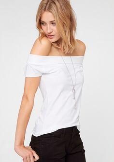 T-Shirt mit Carmen-Ausschnitt im s.Oliver Online Shop