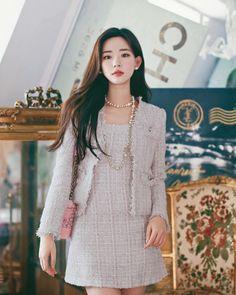 daily 2019 feminine & classy look Kpop Fashion Outfits, Preppy Outfits, Korean Outfits, Classy Outfits, Stylish Outfits, Fashion Dresses, Girl Outfits, Korean Girl Fashion, Korean Fashion Trends