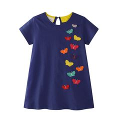 Kids Dress Baby Girls Summer Dress Roupa Infantil Short Sleeve Cartoon Cotton Dresses Children Girls Patchwork Dress We offers a wide selection of trendy style women's clothing. Affordable prices on new tops, dresses, outerwear and more. Baby Outfits, Kids Outfits, Cute Flower Girl Dresses, Toddler Girl Dresses, Girls Dresses, Party Dresses, Fashion Kids, Fashion Clothes, Fashion Dresses