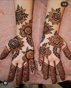 Latest Simple Mehndi Designs, Mehndi Designs Front Hand, Khafif Mehndi Design, Floral Henna Designs, Latest Bridal Mehndi Designs, Stylish Mehndi Designs, Henna Art Designs, Mehndi Designs For Girls, Mehndi Design Photos