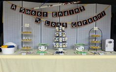 {real parties} Aa retirement made in michigan: the invitation , Decoration Option for Dessert Table. Teacher Retirement Parties, Retirement Decorations, Retirement Celebration, Retirement Party Decorations, Happy Retirement, Retirement Ideas, Military Retirement Parties, Retirement Pictures, Retirement Cakes