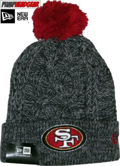 0731a0add71 San Francisco 49Ers Era Nfl Team Graphite Bobble Hat