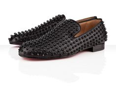 Christian Louboutin Rollerboy Patent Black Spikes