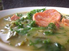 Authentic Portuguese Kale Soup (Caldo Verde), ,