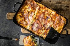 Spinatlasagne Mozzarella, Sauce Béchamel, Food And Drink, Pizza, Cheese, Dinner, Cooking, Recipes, Food Ideas
