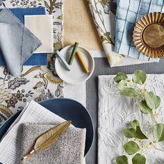 #prestigioustextiles #hampstead #countryliving #homedecor #homeinspo #homeinspiration #fabrics #textiles #softfurnishings #livingroomideas #homeinterior #homeinteriorideas #blue #bluecolourpalette #artsandcrafts #artsandcraftsmovement #britishliving #design #florals #jacobean #flatlay Cosy Home Decor, Earthy Color Palette, Prestigious Textiles, Stunning Wallpapers, Traditional Fabric, Arts And Crafts Movement, Showcase Design, Modern Prints, Soft Furnishings