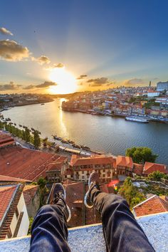 Sunset in Porto, Portugal Travel to Porto in Portugal to enjoy the architecture and beauty of the city. -- Have a look at http://www.travelerguides.net