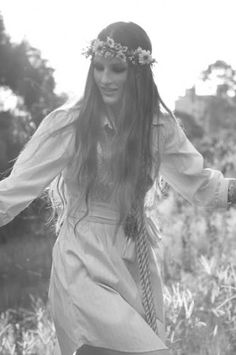 Pretty sixties hippie girl.