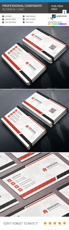 This is a Professional Corporate Business card . This template is 300 dpi print-ready CMYK 02 PSD files. All main elements are eas