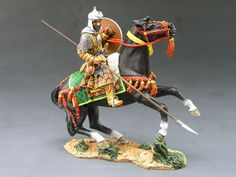 King and Country MK043: Saracen on Rearing Horse - Shield - Lance Pointed Down - RETIRED