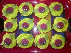 Lady Bug Red Velvet Cupcakes