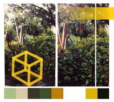 """Esta es una pintura intervenida, que parte de las reflexiones que he venido desarrollado desde la perspectiva """"hombre/naturaleza"""" en este… Instagram, Perspective, Parts Of The Mass, Paintings"""