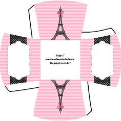 Caixa Paris preto e rosa 4