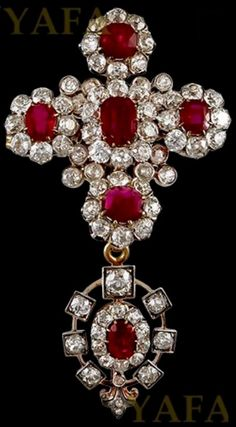 An Antique Burmese natural ruby and diamond pendant, circa 1890. Mounted in silver-topped gold. #antique #pendant