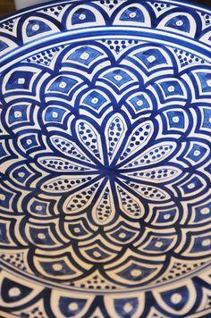 Blue and White Ceramic Dish