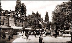 Trödelmarkt in Nürnberg um 1929.