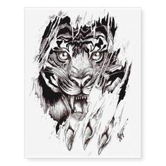 """Tatuagem temporária """"TIGER"""""""