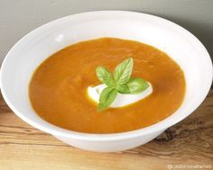 Tomato Soup Recipe Basil and Roasted Garlic - 5-2 Diet Recipe
