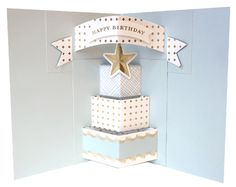 Pop Up Dies includes a cake, banner, bunting and traditional pop up inserts