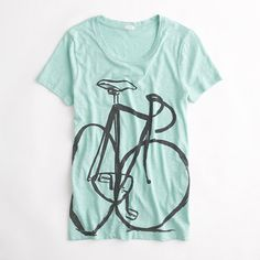 J. Crew #bicycle graphic tee - wear your passion