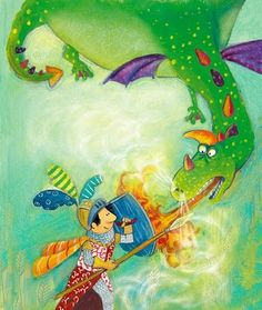 Pinzellades al món: Il·lustracions de Sant Jordi i el drac / Ilustraciones de San Jorge y el dragón / Illustrations of St. George and the Dragon