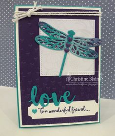 HAPPY HEART CARDS: STAMPIN' UP! DRAGONFLY DREAMS FRIENDSHIP CARD