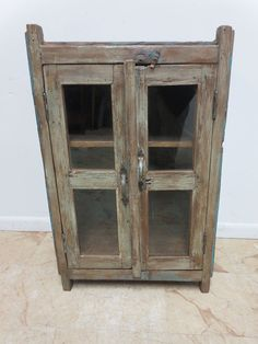 Antique Primitive architectural salvage pie safe cupboard cabinet shelf curio L