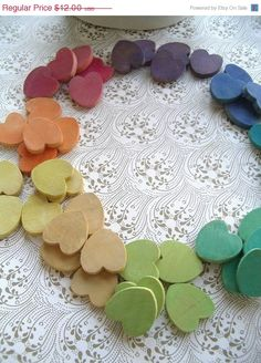 Montessori Toy, Rainbow Counting and Sorting Hearts / Waldorf Toy Montessori Activities, Fun Activities, Math For Kids, Crafts For Kids, Toddler Crafts, Natural Toys, Natural Play, Waldorf Toys, Steiner Waldorf
