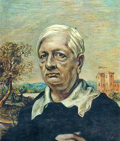 Giorgio de Chirico - self-portrait~ Giorgio de Chirico (Italian: [ˈdʒordʒo deˈkiːriko]; 10 July 1888 – 20 November 1978) was an Italian artist. In the years before World War I, he founded the scuola metafisica art movement, which profoundly influenced the surrealists