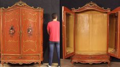 Venetian room set: dresser, two nightstands, a wardrobe, a bed and a small mirror. - YouTube