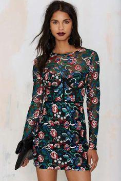 Nasty Gal Bangin' Bloom Mesh Dress
