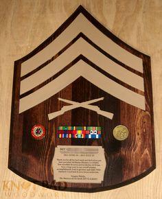 Custom Wooden Chevron USMC CPL/SGT Plaque