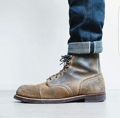 Iron ranger and selvedge denim #redwing #denim