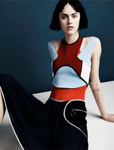 Techno Girl - Sarah Brannon by Jacob Sutton for Numero #161 March 2015 - Paco Rabanne