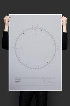 Plainworks — Daily Mood Calendar http://plnwrx.com/w6m #Calendar #2015 #Typography #Poster #Print #Graphicdesign #Design #Infographic