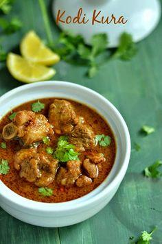 Kodi Kura - Andhra style Chicken Curry ~ Nalini'sKitchen