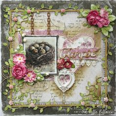 Glimpse **The Scrapbook Diaries & Maja Design** - Maja Design papers and Dusty Attic Chipboard. http://gabriellepollacco.blogspot.ca/2014/12/new-scrapbook-diaries-kit-page-video.html