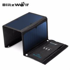 BlitzWolf 20W 3A Portable Solar Power Bank Foldable Powerbank Cellphone USB Solar Panel Charger With Power3S SunPower For Phone