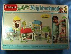 Vintage 1977 Playskool Sesame Street Neighborhood
