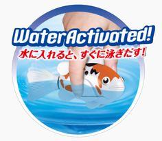 Takara Tomy - Lifelike Robotic Fish - Robo Carp & Goldfish swim in your aquarium or bathtub