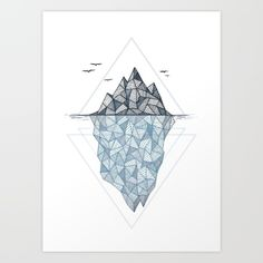 Buy Iceberg Art Print by Barlena. Worldwide shipping available at Society6.com. Just one of millions of high quality products available.