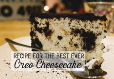 This is a recipe for an Oreo cheesecake, one of the quick and easy desserts I like to to make. It is best to make this the day before, so that it has ample time to cool. The Best Oreo Cheesecake Recipe, Cheesecake Factory Oreo Cheesecake, Easy Cheesecake Recipes, Dessert Recipes, Oreo Recipe, Cheesecake Cupcakes, Raspberry Cheesecake, Dessert Ideas, Dinner Recipes