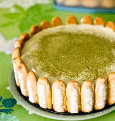 Green Tea Tiramisu: I did change this recipe a little bit, but it still  turned out well. You definitely need to wait for the tea to cool before dipping the lady fingers in though or they will get really soggy. It also turned out I was using melon flavored matcha, so the tea flavor turned out weaker than I would have liked.