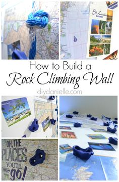 How to build an indoor rock climbing wall for a playroom.