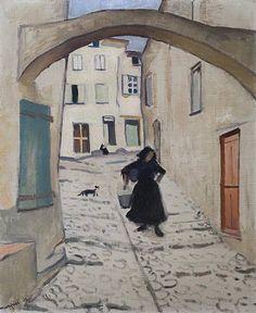 """Rue un Colliure"", óleo sobre lienzo de Albert Marquet (1875-1947, France)                                                                                                                                                      Más"