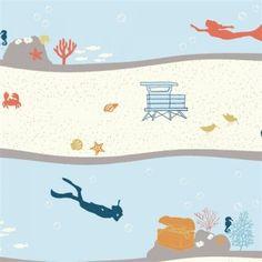 KNIT+-+Beyond+the+Sea+-+Birch+Fabrics+-+Dive+Stripe+-+Organic