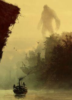 ArtStation - Kong - Skull Island , Jakub Rozalski