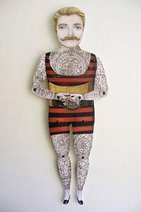 victorian tattoo man puppet by crankbunny